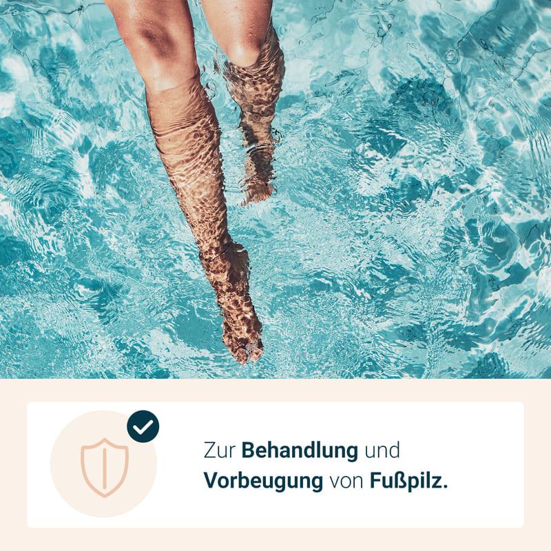 Anti-Fußpilz behandeln